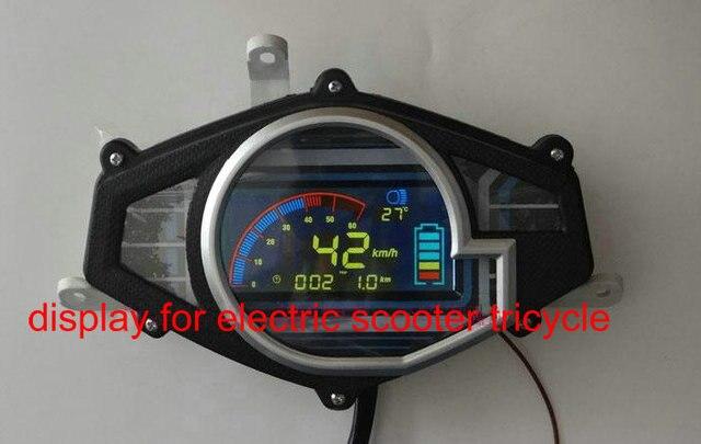 indicateur de vitesse 36v48v60v72v84v96v affichage lcd pour scooter lectrique moto tricycle. Black Bedroom Furniture Sets. Home Design Ideas