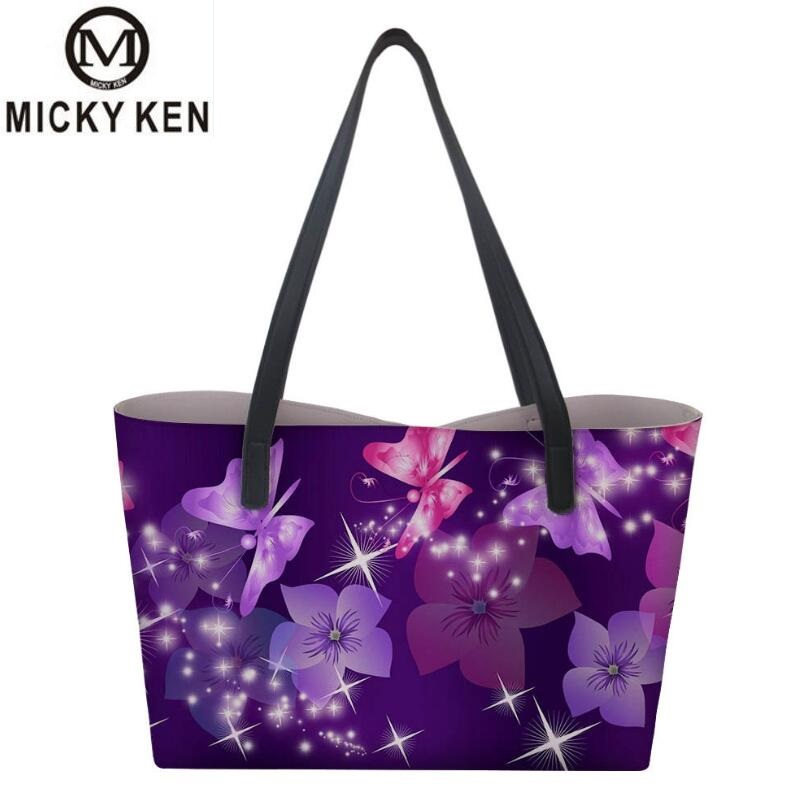 Micky Ken Brand Big Capacity Hand-painted Color Woman Handbag Fashion Handbags Shoulder Diagonal Package Embossed Butterfly Bag min handbag shoulder diagonal three purpose butterfly spiraea lingge bag mar25