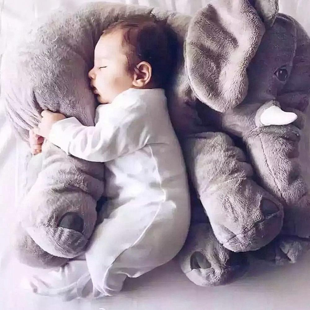 Cartoon Plush Elephant Toy 60/40cm Large Plush Elephant Toy baby Sleeping Back Cushion mini baby elephant plush toy sounding musical rattle baby toy soft educational plush toy