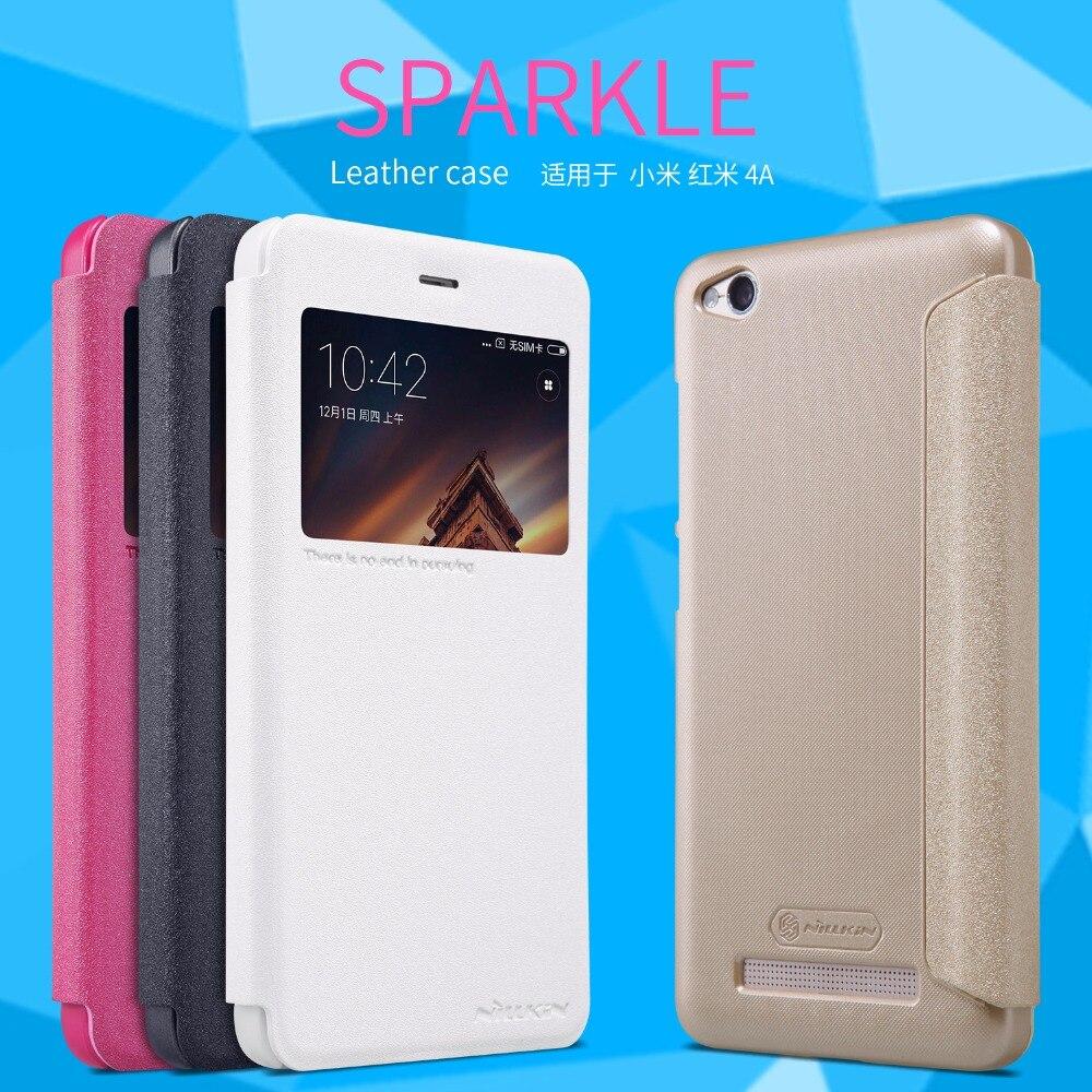 NILLKIN Sparkle series Flip Frosted Shield Back Cover Case For xiaomi redmi 4A 5 inch Cases For xiaomi redmi 4A