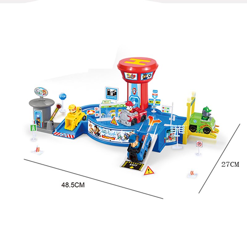 Paw Patrol Dog Parking Lot Patrulla Canina Anime Figure PVC Action Figures Juguetes Anime Figure Kids Toys For Children D62