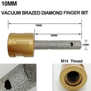 Image 4 - DIATOOL 1pc Dia 10/20/25mm Vacuum Brazed Diamond finger bits With 5/8 11 or M14 Thread Enlarge shape round bevel existing hole