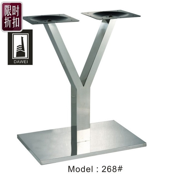 Stainless Steel Dining Table Leg Table Stand Desk Long Table Tripod Desk  Stand Thick Chassis Hotel