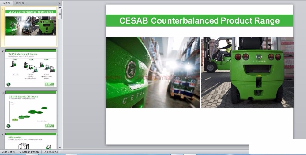 SattvDiag Cesab Spare Parts and Repair and Operation Manuals 2017 EN