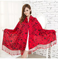 from india Cotton Scarf for Women 2016 long Blanket Scarf Women Pashmina Poncho Winter Shawls Scarves Wraps Tassels Tippet