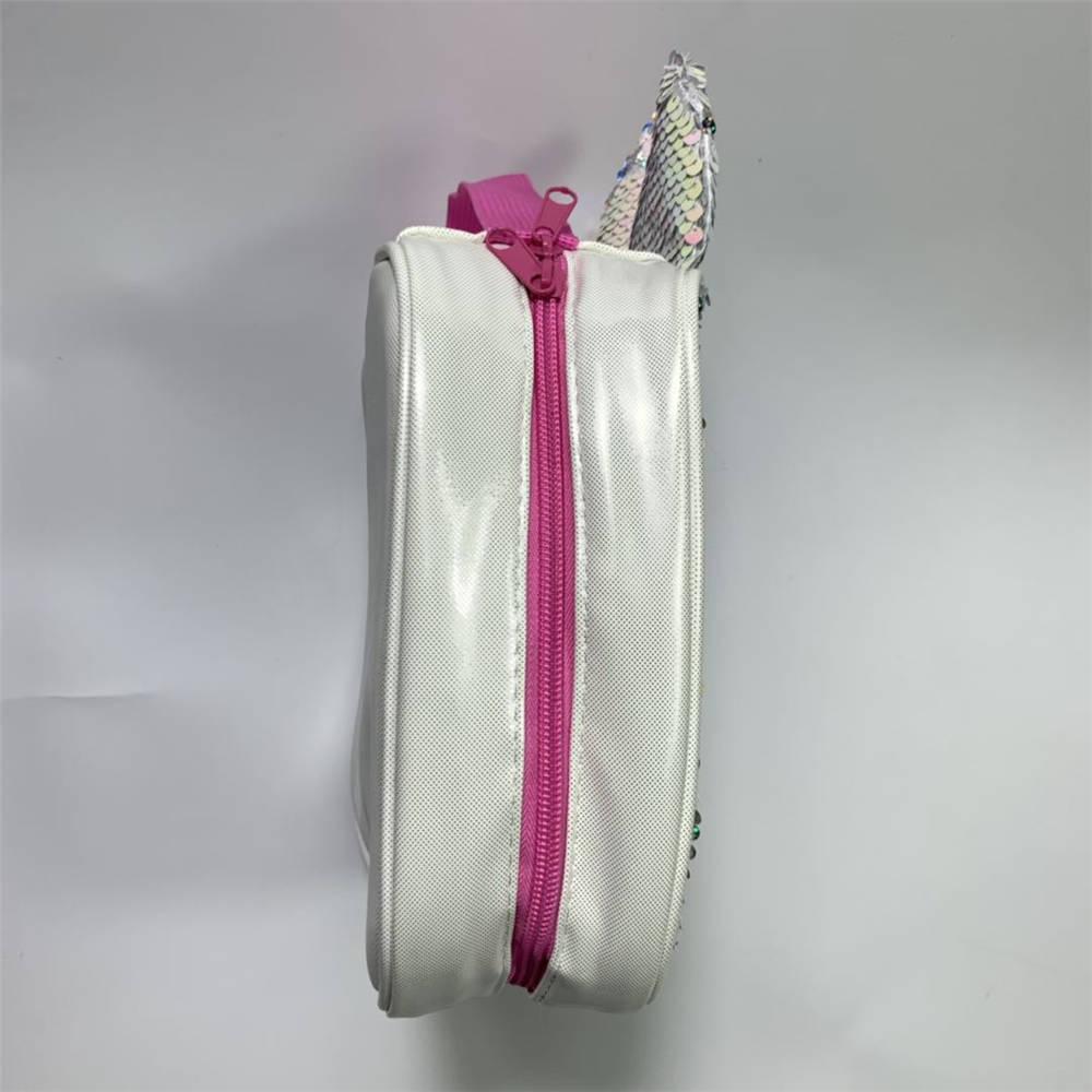 Unicórnio mágico sequin lancheira rosa sereia colorido