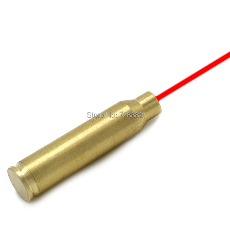 Hunting CAL.222 Cartridge Red Dot Laser Boresighter .222 REM Laser Bore Sighter Brass For Rifle Free Shipping