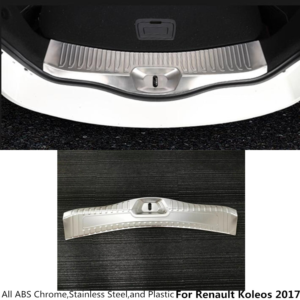 High quality For Renault Koleos 2017 Stainless Steel back Rear Pedal trunk Door Scuff Plate Frame Internal Threshold hoods 1pcs цена