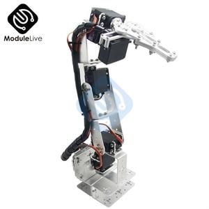 Image 3 - ROT3U 6DOF Aluminium Robot Arm Mechanical Robotic Clamp Claw for Arduino Silver