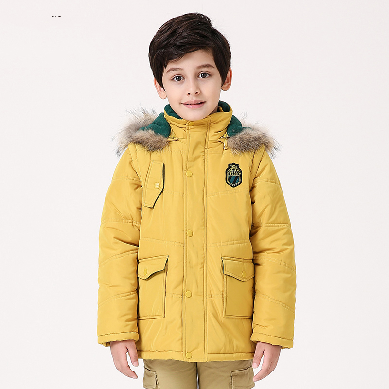 Hot Sale Boys Clothes Solid Thick Children's Winter Coat Boy Cotton Overcoats Warm Boys Winter Coats Manteau Enfant Garcon hot sale cotton solid men tank top
