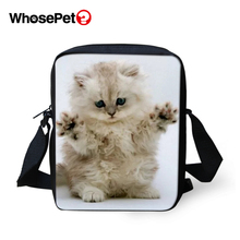 WHOSEPET Kawaii Baby Cats Women Messenger Bags Animal Cross Body Shoulder Cool Girls School Lady Mini Flap Postbags