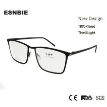 Esnbie мужская оправа для очков tr90 Прямоугольная в стиле ретро