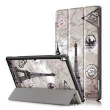 "Cubierta de la caja Para Lenovo TAB 4 10 Plus Casos TB-X704N X704F Tab4 Tablet cubre Estuche Protector de Cuero 10 plus 10.1 ""PU Protector de La Manga"