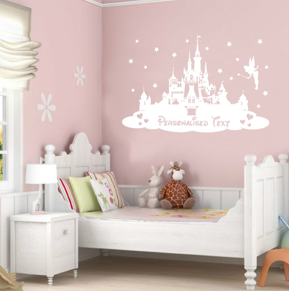 Wonderful Aliexpress.com : Buy Custom Personalized Kids Name Princess Castle Nursery  Girls Bedroom Home Decor Art Mural From Reliable Mural Wall Suppliers On  Myhome ... Part 20