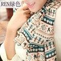 2016 Новая Мода зимы женщин и осень Длинный Шелковый Шарф Velvet Шифон дамская шали шарфы для женщин