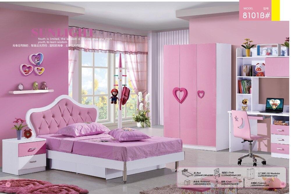 US $880.0 |2019 Meuble Enfant Promotion Loft Bed Set Kids Table And Chair  Wood Kindergarten Furniture Camas Lit Enfants Meuble Bunk Beds-in Children  ...