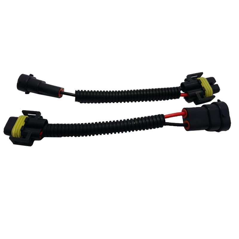 New 2pcs H11 H9 H8 Extension Wiring Harness Socket Wire for Headlight Fog Lights