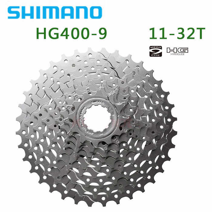 Shimano CS-HG400-9 Cassette 9s 11T-32T MTB 9 Speed 9S 11-34t 32T Bicycle Freewheel