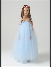 Flower Girl dress Princess dress quality Polyester fiber girl's costumes wedding and performance dress for age 2-8T