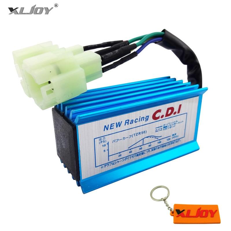 Синий 6-контактный гоночный AC CDI GY6 Круглый контактный ящик зажигания для 50cc 90cc 110cc 125cc 150cc 2-тактный двигатель Мопед Скутер Квадроцикл багги