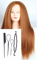 CAMMITEVER Long Hairdressing Training Hair Tools Braiding Cutting Student Practice Model Practice Mannequin (Golden)