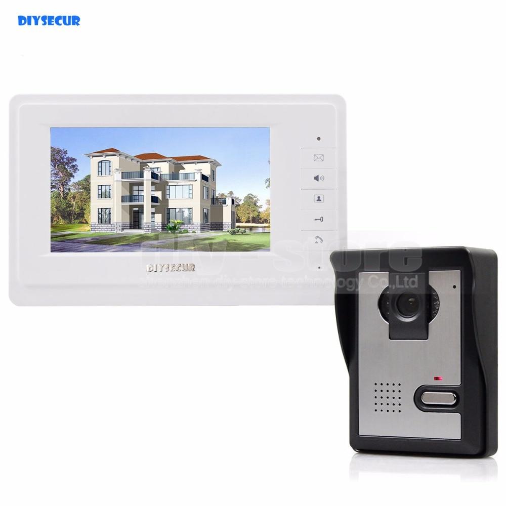 DIYSECUR 600TVLine HD Camera High Quality 7 Inch TFT Color LCD Display Video Door Phone Intercom Doorbell Night Vision
