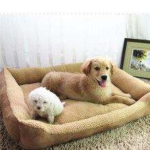 Большая спальная кровать для собак, утепленный хлопковый диван для больших собак, теплый домик для домашних животных, золотистый ретривер, коричневый, M, L, XL, Прямая поставка