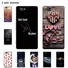 I am alone Phone Case For Sony Xperia Z1 Mini Z1 Compact 2014 4.3 Hard Plastic Bag Mobile Cellphone Fashion Color Free Shipping free shipping 10pcs mst6e181vs lf z1