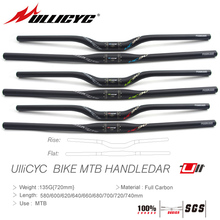 Ullicyc UC90 MTB Carbon Bicycle Handlebar Flat or Rise Handlebar Mountain bike parts 31.8*580/600/620/640/660/680/700/720/740mm цена