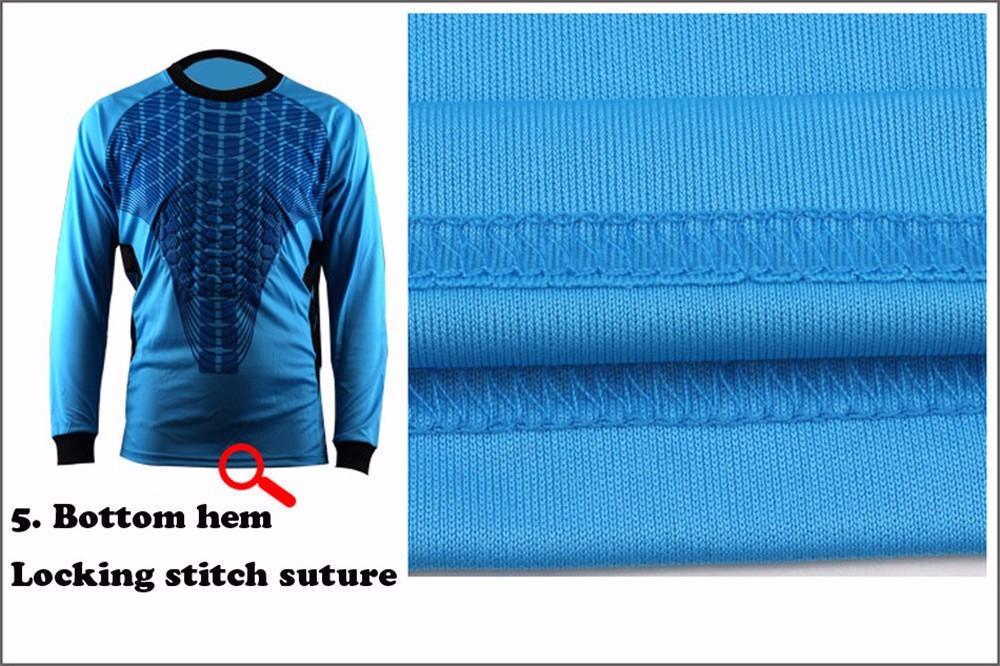 Mens Football Goalkeeper Jersey maillot de foot 2016 2017 Goalie Sponge Protector Suit Camisetas De Futbol Goal Keeper Uniforms 9