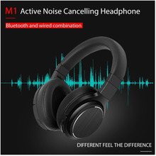 FREE SHIPPING M1 Bluetooth Wireless Headset Microphone Active Noise Cancelling  Headphones Portable earphone For Phones Music колонка alesis m1 active 520 usb