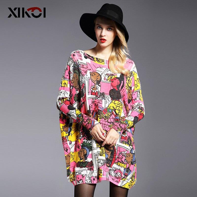 Xikoi 2017 Nuevo otoño casual mujeres suéter moda impresión mujeres ...