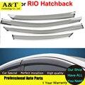 Coches Ventana Viseras Para KIA K2 RIO Hatchback 2012 2013 2014 Sol protección contra la Lluvia Cubre Las Pegatinas de Coches de Estilo Toldos Refugios