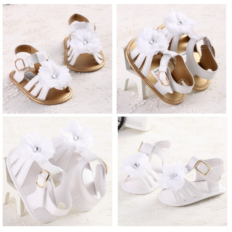White Prewalker Crib Shoes