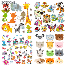 ZOTOONE Stripes Iron on Transfer Patches Clothing Diy Cute Dog Patch Heat for Clothes T-shirts Girl Sticker I