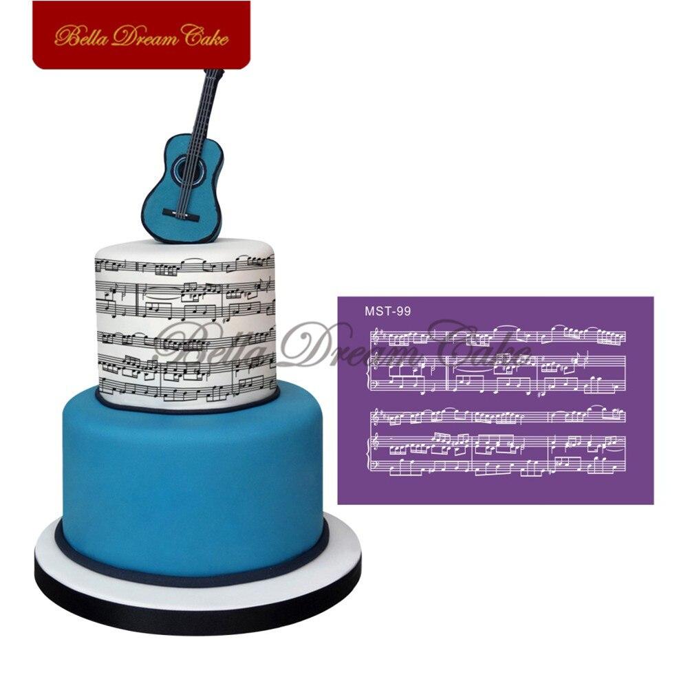 Musical Notation Mitarbeiter Design Mesh Schablone Fur Hochzeit