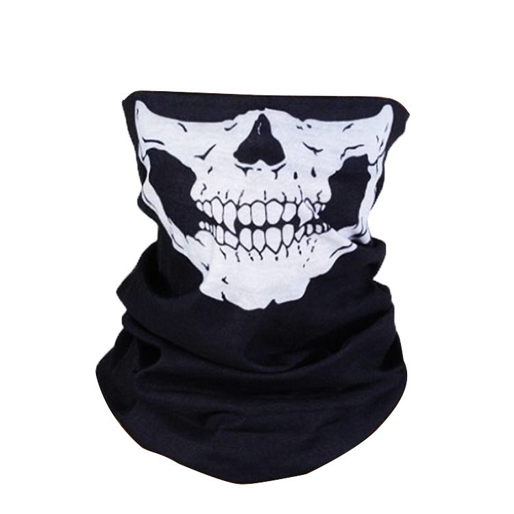 Skull Multi Bandana Bike Motorcycle Scarf Face Mask CS Ski Headwear Neck party masks halloween mask motorcycle mask skull bicycle ski motor bandana motorcycle face mask skull for motorcycle riding scarf women men scarves scary windproof face shield