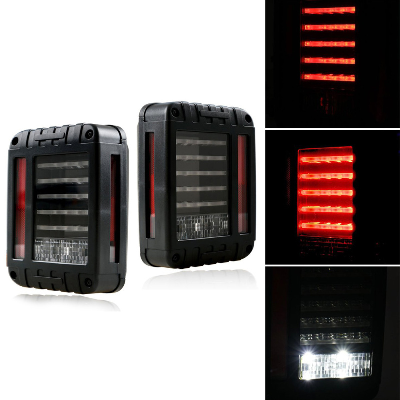 2017 NEW Wrangler LED Reverse Brake Tail Lights With USA Standard Plugs For Jeep wrangler 07-16 JK Car Light Replacement Lamp windshield pillar mount grab handles for jeep wrangler jk and jku unlimited solid mount grab textured steel bar front fits jeep