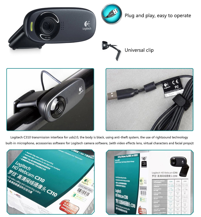 Logitech Webcam Hd C310 Web Camera 720p Computer Cmos 5mp Webcam Webcams Aliexpress