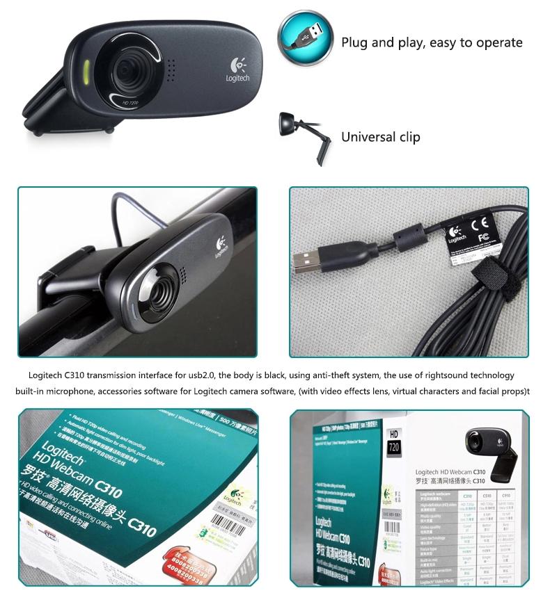 Logitech Webcam Hd C310 Web Camera 720p Computer Cmos 5mp Webcam Webcams Aliexpress