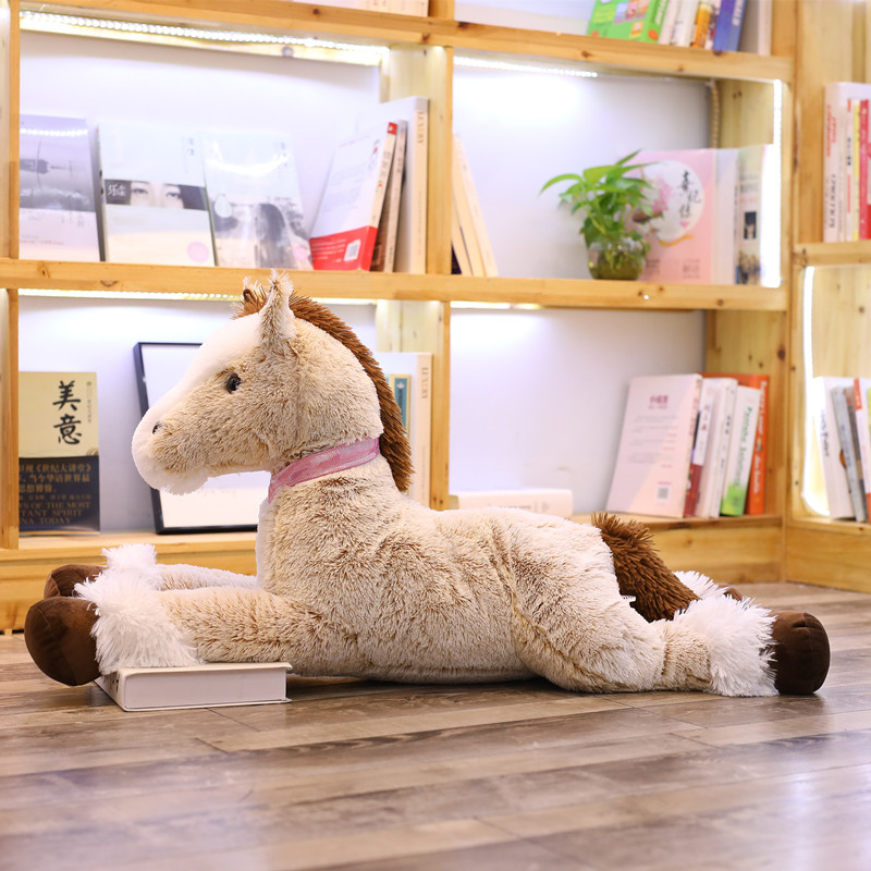 2019 New Giant Simulation Horse Plush Toys Cute Unicorn Staffed Soft Lovely Animal Doll Style Toys for Birthday Gift Home Decor