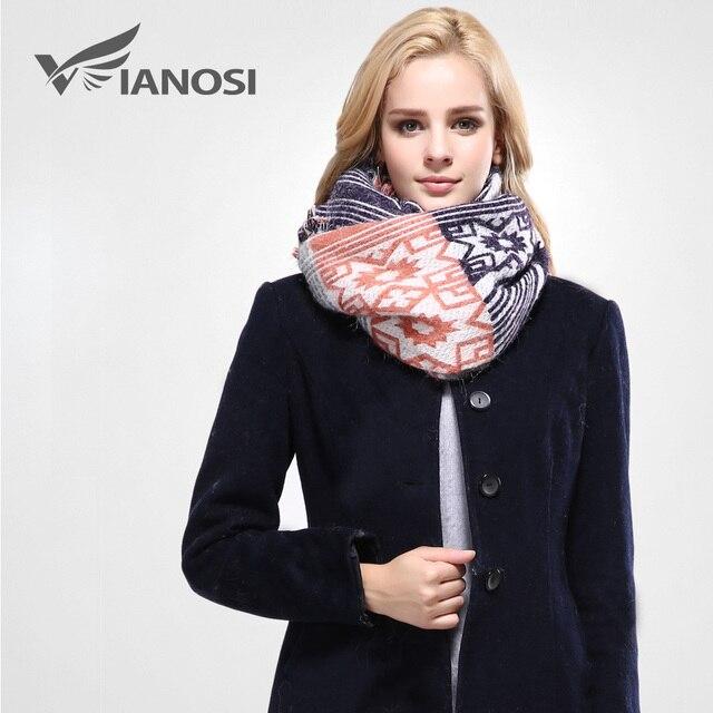 Vianosi  estilo europeo bufanda de invierno las mujeres foulard chales y  bufandas de marca 052966714f5