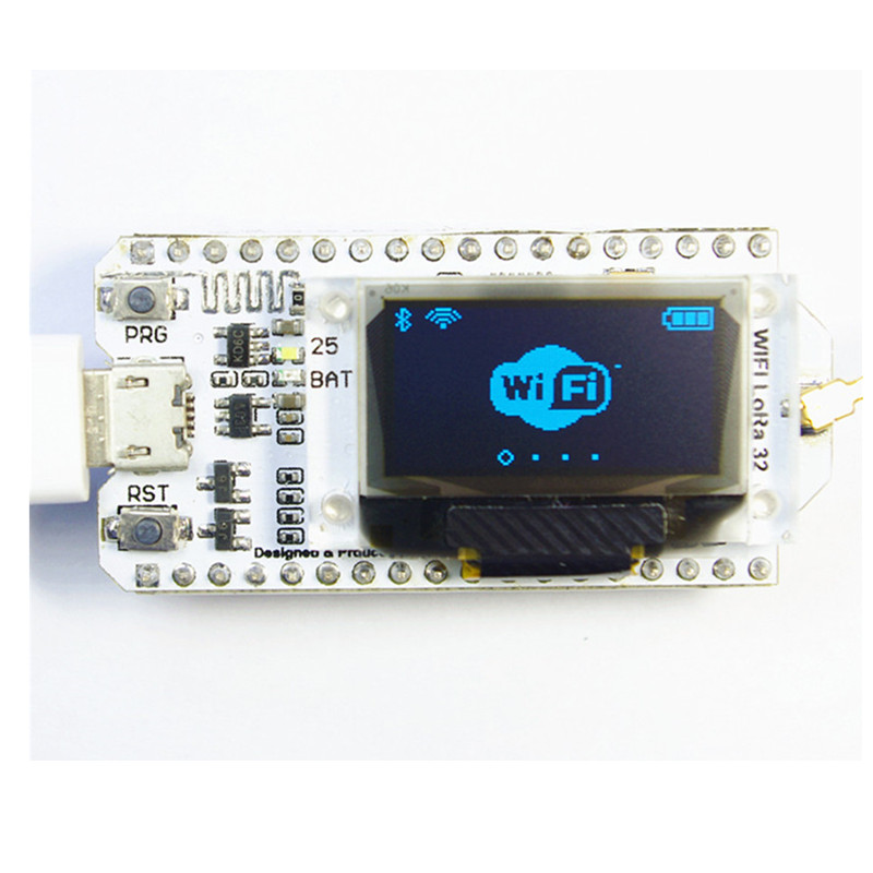 2 шт. Lora esp32 0.96 дюймов синий OLED Дисплей <font><b>Bluetooth</b></font> WI-FI Lora комплект sx1278 32 модуль <font><b>IOT</b></font> развитию Телевизионные антенны для Arduino