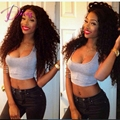 Natural Color Brazilian Virgin Hair Full Lace Human Hair Wig & Lace Front Wig Kinky Curly Human Hair Wig Instock