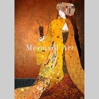 100% Hand painted High Quality Artwork Gustav Klimt The Virgins Oil Painting On Canvas Art Painting Living room decor Wall art