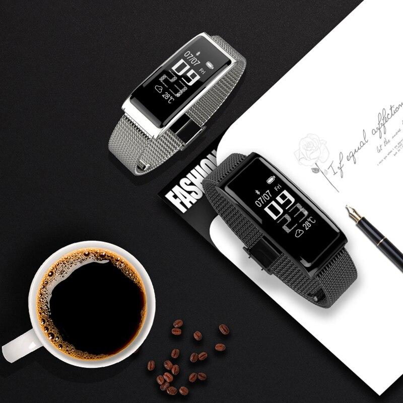 Unterhaltungselektronik Mode C9plus Metall Stahl Gürtel Herz Rate Überwachung Smart Armband Bluetooth Ip68 Wasserdichte Schritt Zähler Sport Armband & 25 Hell Und Durchscheinend Im Aussehen
