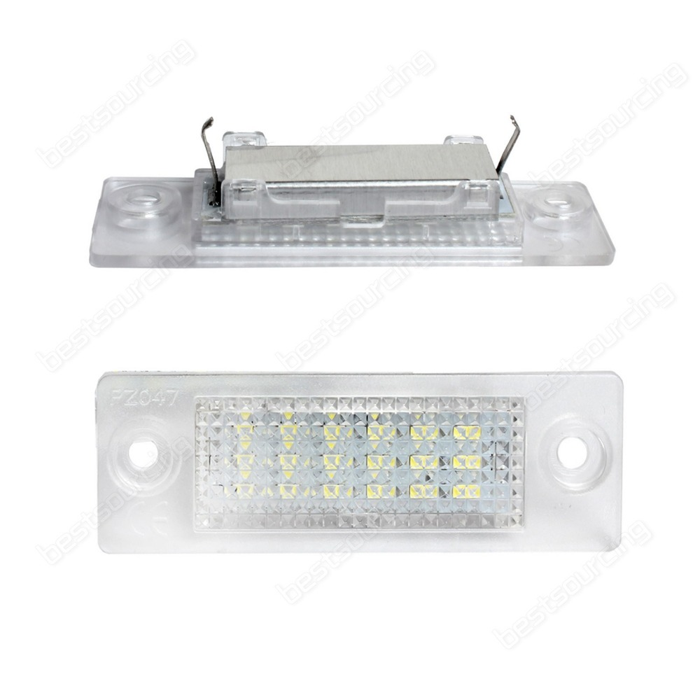 LED Licence Number Plate Light White VW Transporter T5 Caddy Jetta ...