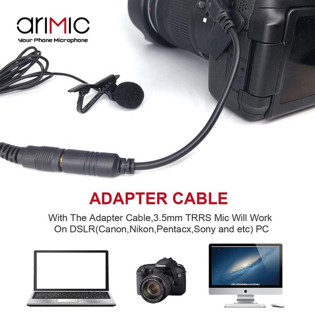 Dual-Head Clip Microphone for DSLR Camera & Phones