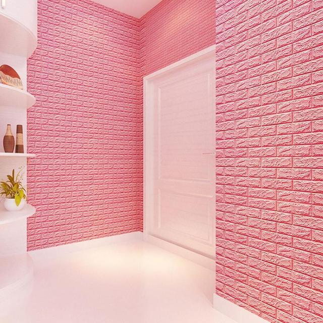 Wall stickers home decor living room PE Foam 3D Wallpaper DIY Wall ...