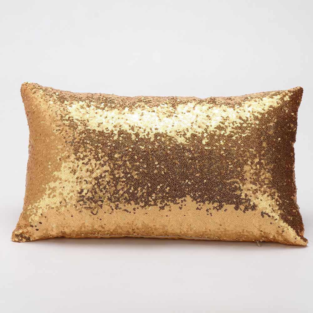 2019 New Sequins Sofa Bed Home Decoration Festival Pillow Case Cushion Cover High Quality 30×50cm kussens  Oreiller Hot Sale